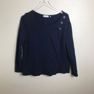 Habitat Clothes to Live in Navy Knit shirt 2307